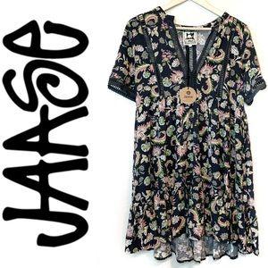 Jaase   Australian Design Navy Floral Mini Dress